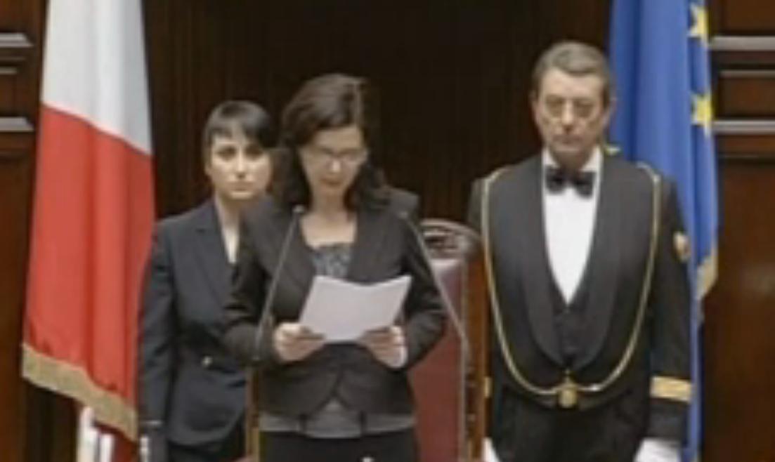 Discorso Camera Boldrini : Discorso di insediamento della presidente della camera laura