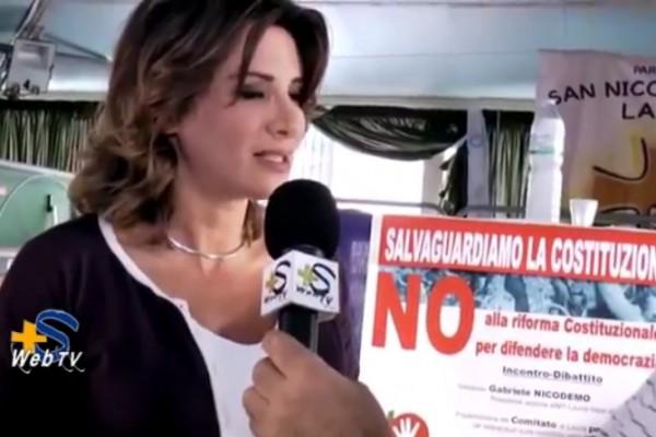 Intervista ad Anna Falcone vice presidente del Comitato per il NO