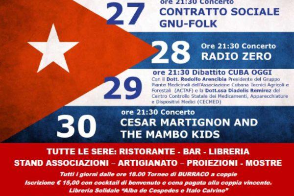 MERCOLEDì 26 luglio a Viareggio (zona Stadio dei Pini) la Festa Interprovinciale organizzata da Italia-Cuba