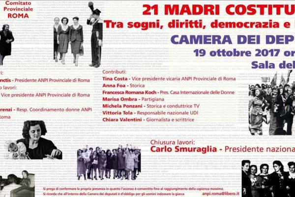 21 madri Costituenti tra sogni, diritti, democrazia e libertà