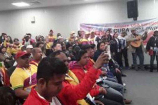 I giovani del mondo condannano l'ingiusto blocco degli USA imposto a Cuba
