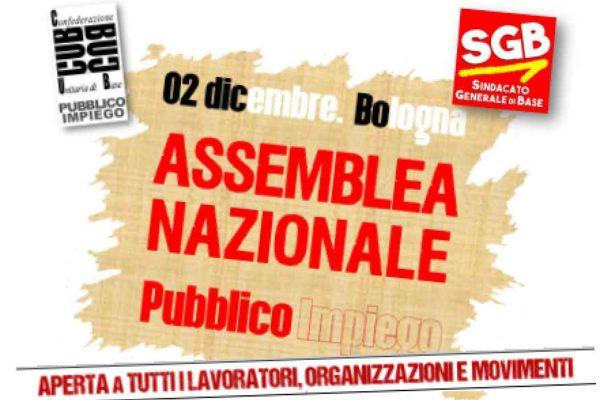 Assemblea Nazionale Pubblico impiego il 2 dicembre