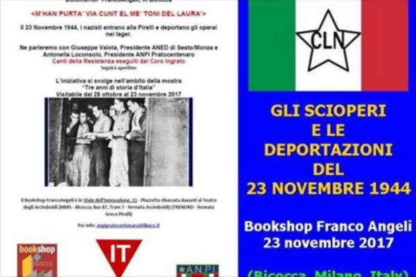 GLI SCIOPERI E LE DEPORTAZIONI DEL 23 NOVEMBRE 1944 A MILANO