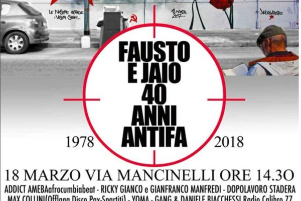 Fausto e Jaio 40 anni antifa...