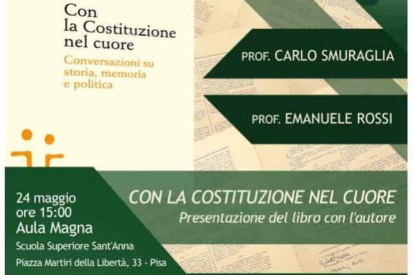 Giovedì 24 maggio presentazione del libro di Carlo Smuraglia