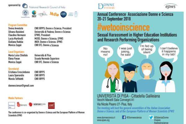 Conferenza internazionale a Pisa sulle molestie sessuali nelle università e nella ricerca