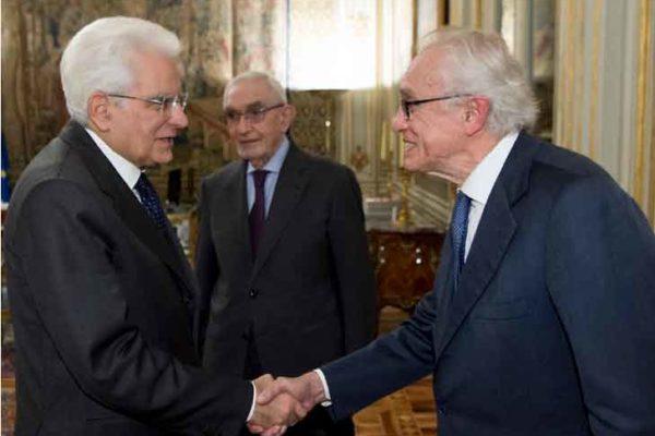 Bazoli (indagato) parla con il presidente Mattarella. Intercettazioni distrutte