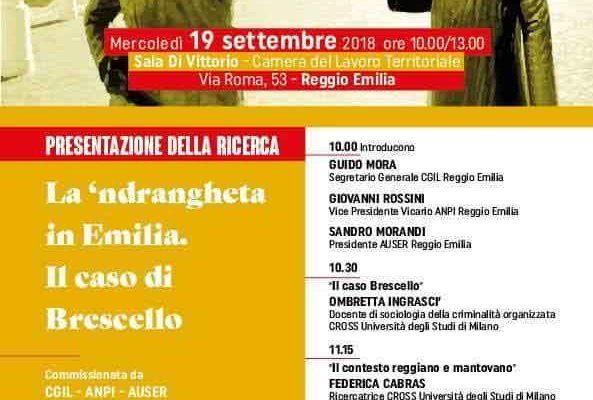 """Presentazione della ricerca """"La 'ndrangheta in Emilia. Il caso di Brescello"""""""