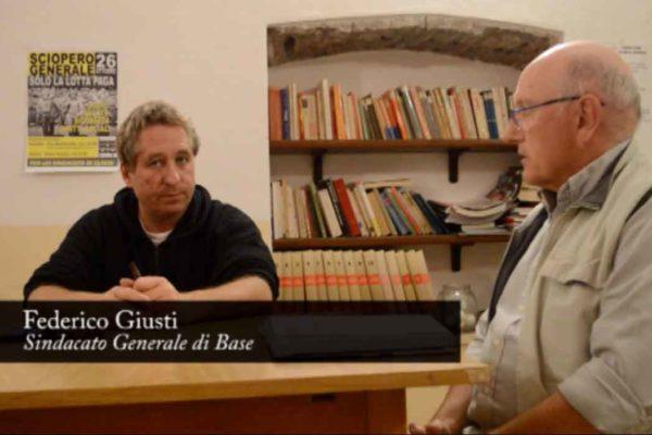 Federico Giusti di SGB spiega le ragioni dello sciopero generale del 26 ottobre