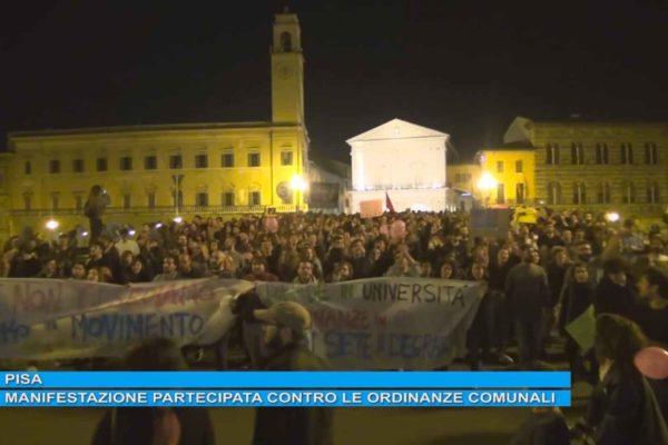 Pisa. Manifestazione partecipata contro le ordinanze comunali