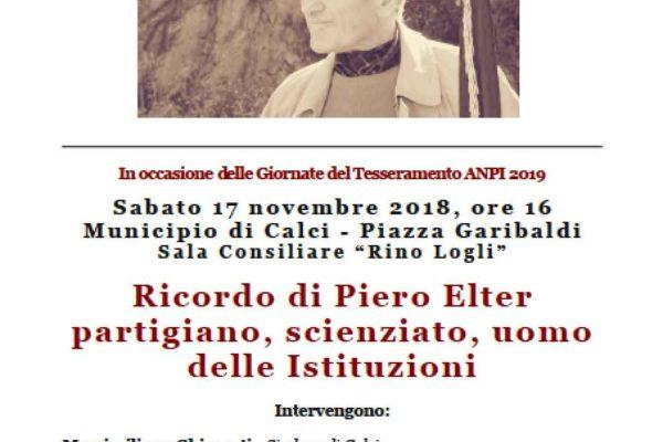 Il 17 novembre l'ANPI ricorda Piero Elter