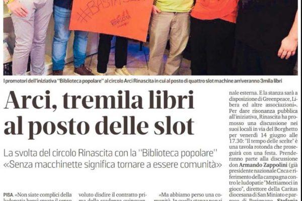 TREMILA LIBRI AL POSTO DELLE SLOT