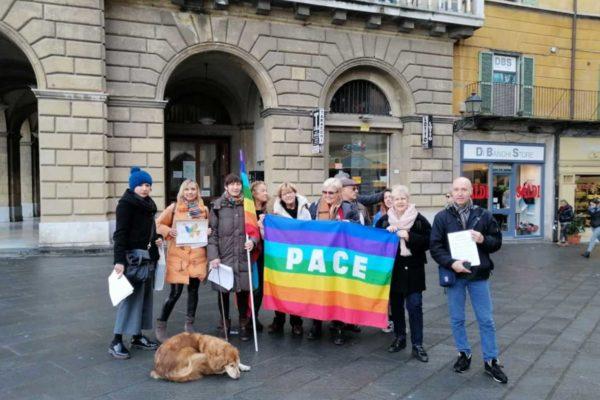 Presidio in Piazza Vittorio Emanuele per la pace: