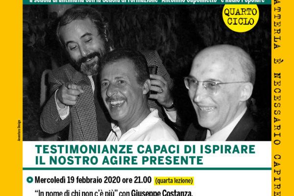 4a Lezione antimafia - Tedofori di Memoria - Di Matteo a Milano