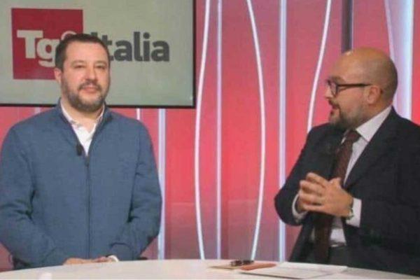 La bufala di Salvini dei 7 euro a testa rilanciata dal Tg2: la denuncia del Pd