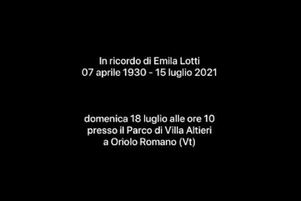 Video ricordo di Emilia Lotti